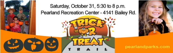 Pearland Trick or Treat Trail